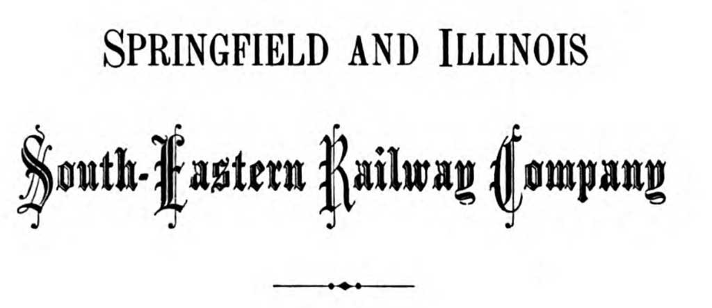 Springfield and Illinois South-eastern Railway Company